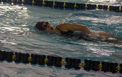 Lady Titans swim take first in triangular meet