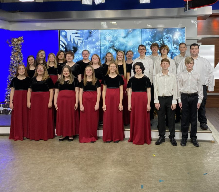 Choir kids spread holiday cheer