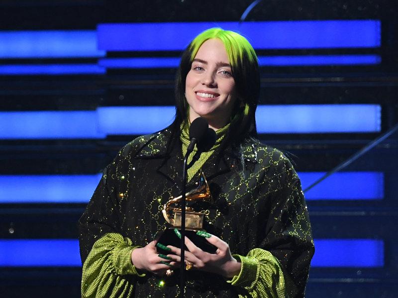 Billie Eilish wins 5 Grammys