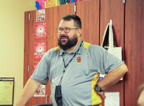 Ian Gamroth is the newest addition to the English department at Gibson Southern and mostly teaches sophomores and juniors.
